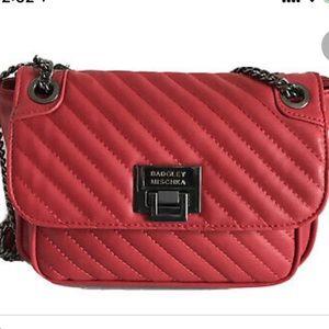 NWT Badgley Mischka Red Quilted Shoulder Bag